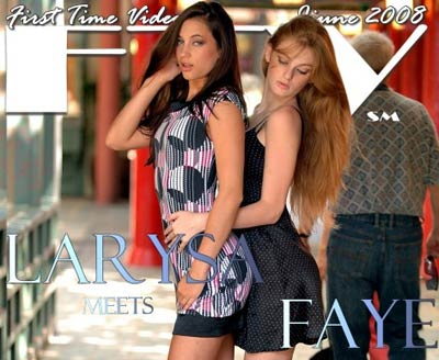 FTV Girls Larysa and Faye like to flash in public places