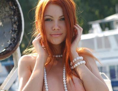 Sexy Redhead Babe Lidiya from Met Art