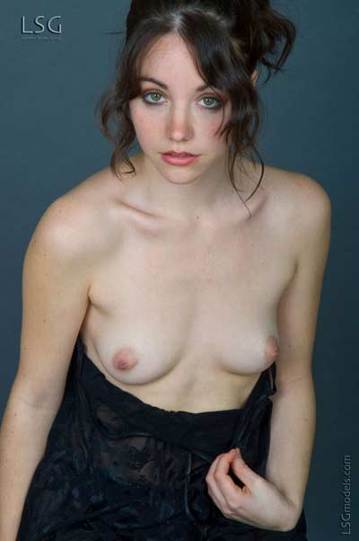 Hairy Brunette Babe Christelle from LSG Models