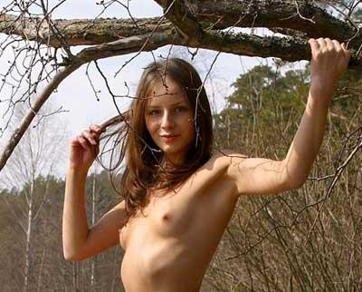 Brunette Babe Vika from MPL Studios